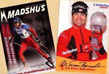 Ole Einar Björndalen-Win - 2 AK images (4) - 2 print copy + Ski AK