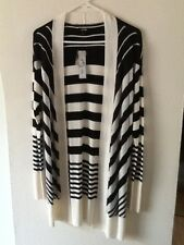 "WOMEN'S  BLACK & WHITE  LONG SWEATER  ""APT 9"" size SMALL  NEW W/TAGS  FREE S&H"