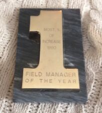 Snap On Tools Collectable 24K GOLD PLATED FldManager Award LIMITED ANTIQUE RARE