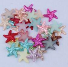 NEW 30pcs 19MM Resin starfish mix Flat back Scrapbooking For DIY craft Art