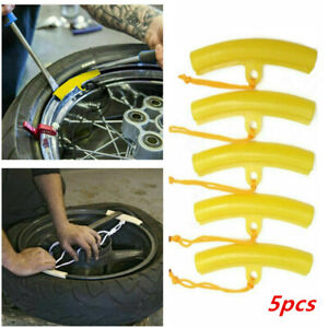 5Pcs Alloy Wheel Rim Remove Protector Motorcycle Car Tyre Edge Protection Set UK