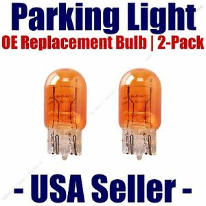 Parking Light Bulb 2-pack OE Replacement Fits Listed Nissan Vehicles - 7444NA
