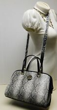 "Anne Klein Python Snake Print Satchel Shoulder Bag Handbag Purse ""NWT"""