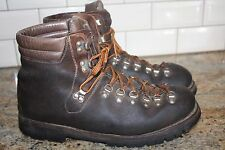 ASOLO SPORT  Vintage Brown Leather Mountaineering Boots Men's 12