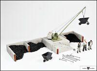 Bekohlungsanlage + Lorenset + Figurenset - Fertigmodell Spur 1