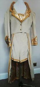 "Pantomime Dame or Drag Costume.  Beige coat & shorts 44"" bust/chest"
