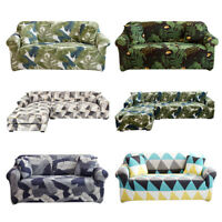 1/2/3/4 Seaters Stretch Sofa Slipcovers Couch Armchair Cover + 1X Pillowcase New