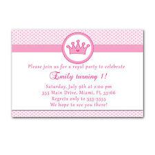 30 Princess Invitation Cards Pink Polka Dots Invites Girl Birthday Party A1