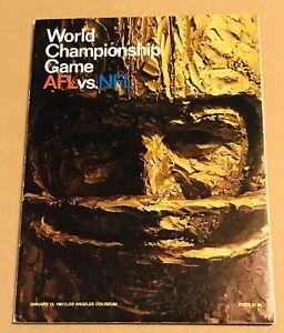 Super Bowl I World Championship Game 1967 NFL Program Packers Chiefs Near Mint