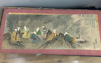 Authentic Chinese scroll paintings; hand-painted - paper on silk With Signed