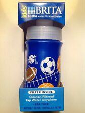 New listing New! 2 Brita Kids Water Bottle Filtration, Bpa Free, Bottle w Filter,13 oz, Blue