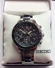 SEIKO Men's PROSPEX Stainless Steel Aviator Solar Chronograph WATCH SSC007