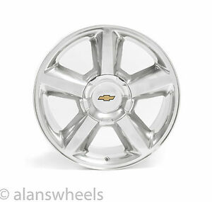 "1 NEW Chevy Silverado Avalanche LTZ 20"" Polished Wheel Rim 9598764 Replica 5308"