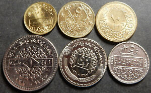 Syria Complete set 2½+5+10+25+50 Piastres + 1 P. 1962 1965 1968 Up to Top Grade