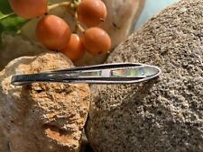 Vintage 925 Sterling Silver & Paua Shell Tie Pin Or Hair Clip Or Pendant @4g