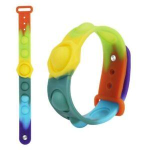 Fits Popit Fidget Wristband Popper Dimple Poppit Bubble Sensory Toy Kids pop it