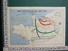 WW2 MAP ~ CONCEPTION OF ARMY PLAN BRITANNY US ARMIES BRITISH FIRST & SECOND