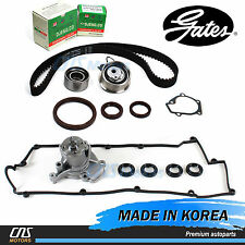 Gates Timing Belt Kit Water Pump Valve Cover Gaskets for 05-10 Hyundai Kia 2.0L