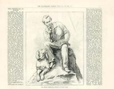 1888 - LONDON HYDE PARK STATUE LORD BYRON DOG (21A)