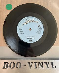 "RICH GYPSY - WHAT HIT ME/SOMETIMES - 1980 SPLASH 7"" -RARE HARD ROCK / PUNK EX"
