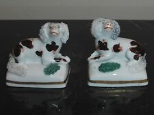 ANTIQUE CHELSEA STAFFORDSHIRE GOLD ANCHOR MARK SPANIEL DOGS