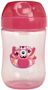 Dr. Brown's Soft Spout Toddler Cup with Handles in monster  Pink - 270ml