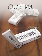 5x Mini-Zollstock Schlüsselanhänger 0,5 m WEISS Gliedermaßstab Zollstöcke NEU