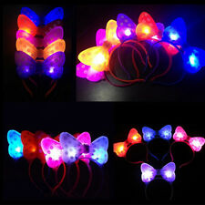 Hot Random LED Lights Bow Hair bands Headwear Glowing Hair Accessories