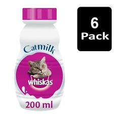 More details for 6 x 200ml whiskas cat milk complementary cat food with calcium & vitamins