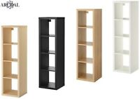 IKEA KALLAX Shelving Unit, Birch Effect, Black Brown, Oak Effect, White 42 X 147