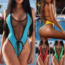 Sexy Women One Piece Swimsuit Push up Monokini Bathing Bikini Swimwear Beachwear