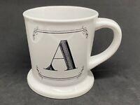 "Monogram Initial Letter ""A"" Coffee Tea Cup Mug Heavy Shaving Style Home Essentia"