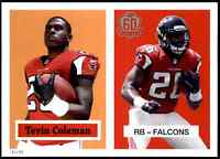2015 Topps 60th Anniversary 5X7 Tevin Coleman #/99