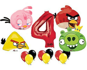 The Ultimate Angry Birds 4th Birthday Party Supplies and Balloon Decorations
