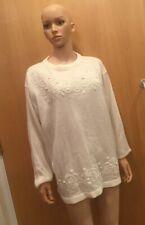 Unbranded White Long Sleeve Thin Jumper - UK Ladies Size 16