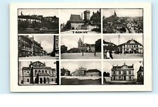*Tabor Czech Republic Town Street Views Old Black and White Vintage Postcard C36
