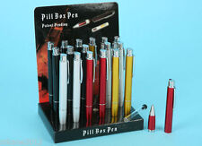Pill Stash Pen Secret Storage Box Pencil Vile Bottle Safe Herb Clubbers Summers