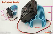 Refrigerador motor electrico coches 1/8 diametro motor 35mm, ventilador a 45