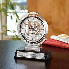 Engraved Clock Spinning Gear Engineering Gift Graduation Engineer Retirement