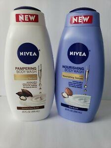 2 Nivea Nourishing Bodywash with Serum 20 OZ.  Shea Butter & Cocoa & Shea Butter