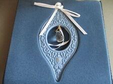 """Wedgwood Millennium Gems 1997 Blue w/Crystal """"Reflection"""" Ornament w/Box"""