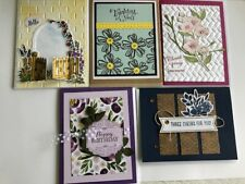 Greeting Cards (5) Assorted Handcrafted w/decorative envelopes