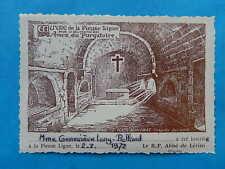 IMAGE PIEUSE HOLY CARD LIGUE  AMES PURGATOIRE LERINS CANNES SAINT HONORAT 1972