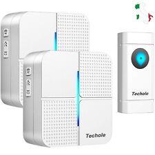 Campanello Senza Fili Wireless WIFI IP55 300m 52 Suonerie Casa n.2 Ricevitori