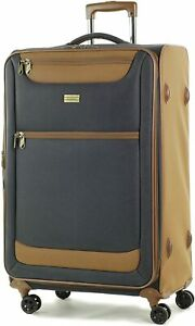 Member Boston Large  Size Light weight Luggage with Trolley  Navy colour