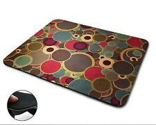 Retro Colourful Pattern Premium Quality Flexible Rubber Mouse Mat / Mouse Pad
