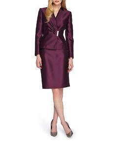 NWT Tahari ASL Asymmetrical Skirt Suitt, Size 4P