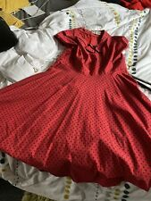 Hell Bunny 4xl Red Dress