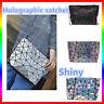 丿丿 2020 Holographic Laser Shoulder Bag Geometric Envelope Clutch Chain Crossbody