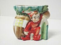 Vintage Elf Pixie Porcelain Vase Planter Made in Japan